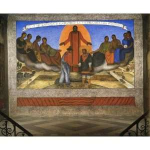 Hand Made Oil Reproduction   Diego Rivera   24 x 20 inches