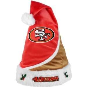 Forever Collectibles San Francisco 49ers Santa Hat