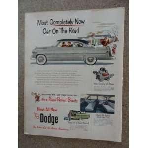 Dodge v eight coronet diplomat, Vintage 50s full page print ad. (car