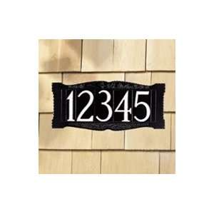 Whitehall 4 Number Wall Sign Standard Wall Mount Black/White