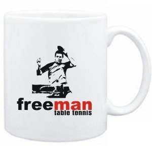 Mug White  FREE MAN  Table Tennis  Sports Sports