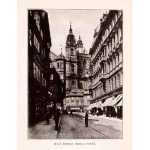 1929 Print Mala Strana Prague Czech Cityscape Historic