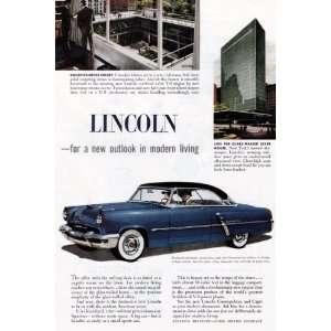 Lincoln Cosmopolitan & Capri Vintage Ad   1950s (Ford Motor Company