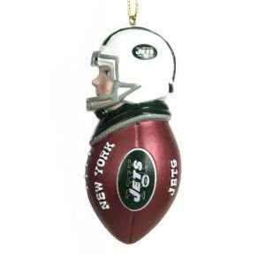 BSS   New York Jets NFL Team Tackler Player Ornament (4.5