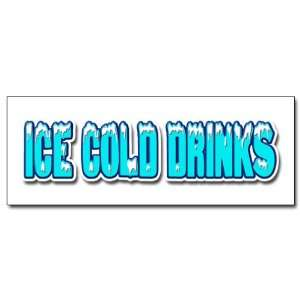 48 ICE COLD DRINKS 1 DECAL sticker drink cart stand beer