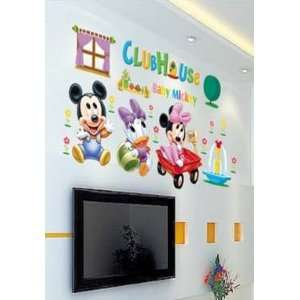 X Large Mickey Mouse Club Minnie Mouse Wall Sticker Decal