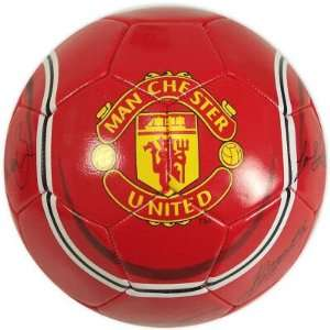 MANCHESTER UNITED OFFICIAL LOGO FULL SIZE SOCCER BALL