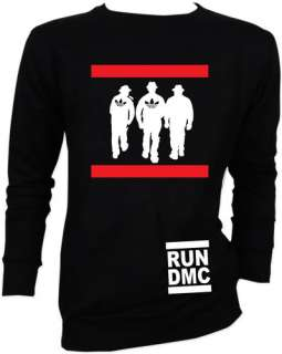 RUN DMC HIP HOP RAPPER Retro Vtg Sweater Jacket S,M,L