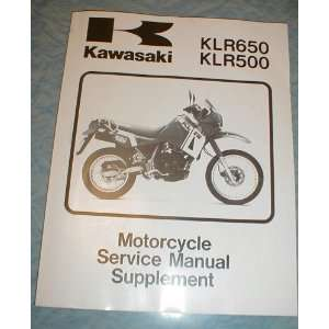 Kawasaki Motorcycle Service Manual Supplement KLR 650 KLR