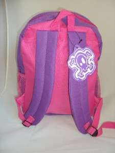 BRILLIANT GIRLS BACKPACK FOR SCHOOL GIRL HEART PURPLE AND PINK RIGID