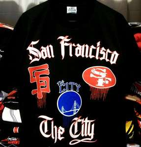 SF San Francisco 49ers Giants Golden State Warriors The City MIX Shirt