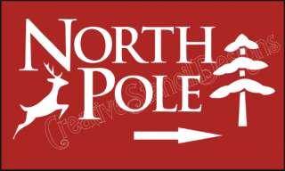 Stencil North Pole Reindeer Christmas Primitive Signs