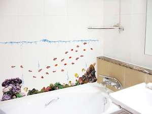 Under The Sea Fishes Wall Decor Removable Sticker Decal
