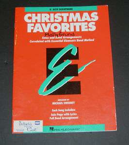 Eb Alto Saxophone CHRISTMAS FAVORITES Solo & Full Band