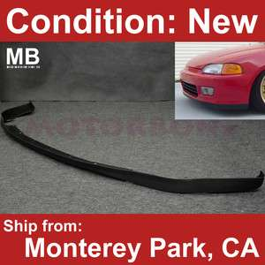 Front PP Bumper Lip 92 95 2/3 DR 93 94 Honda Civic SIR JDM OEM Style