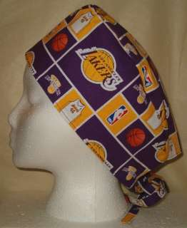 SCRUB HAT CAP MADE W LOS ANGELES LAKERS NBA FABRIC NEW
