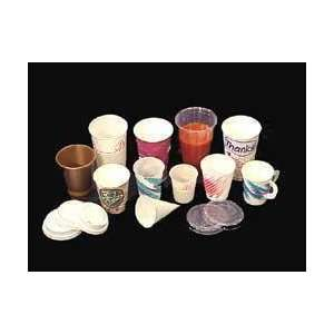 Printed Wax Paper Water Cups   3 Oz   Not Graduated