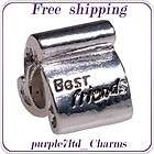 PUGSTER® BEAD BEST FRIEND SIVLER CHARM FOR BRACELET B73