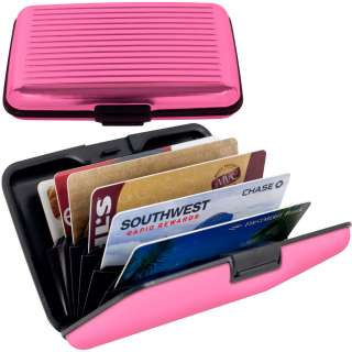 Aluminum Credit Card Wallet   RFID Blocking Case   6 Different Colors