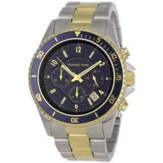 Michael Kors Mens MK8175 Casual Dual Tone Chronograph Blue Dial Watch
