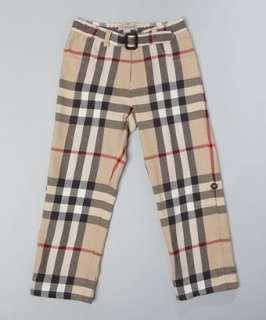 Burberry KIDS cotton wool blend nova check pants
