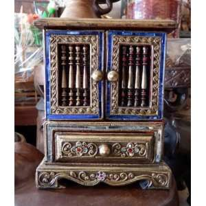 Wood Wooden Box Chest for Jewelry Rings & Necklaces