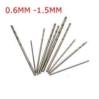 10PCS Mini Twist Drill Bits for 0.6mm 0.7mm 0.8mm 0.9mm 1.0mm . 1