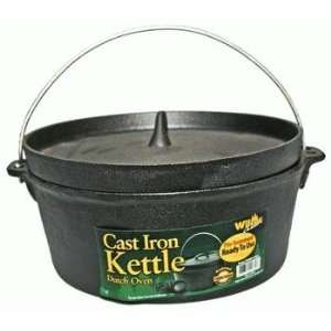 Cast Iron Kettle Dutch Oven 4.5qt (Pre Seasond, Ready to