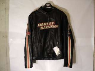 New HARLEY DAVIDSON MENS 2XL BLACK LEATHER Torque JACKET 98114 06VM