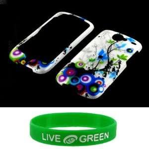 com White with Spring Flower Design Snap On Hard Case for HTC Google