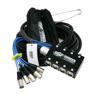 BRAND NEW OSP 8 Channel 30ft Pro Audio Stage Snake w/ 8 XLR plugs