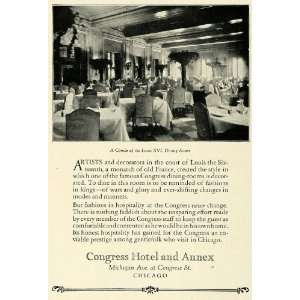 1922 Ad Historic Congress Hotel Chicago Luxury Lodging