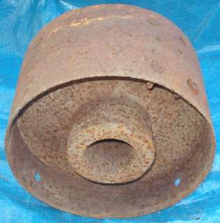 Vtg Hit Miss Line Shaft Flat Belt Pulley Wheel Cast Iron Keyed Shaft