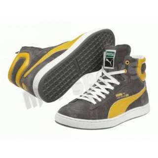 NEW PUMA FIRST ROUND SUEDE MENS HIGH TOP SHOES CASUAL LACEUP TRAINERS