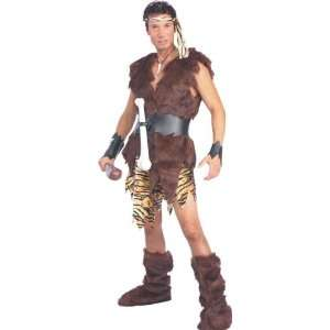 Caveman Male 8pc Deluxe Fancy Dress Costume   One Size