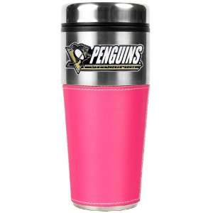 Pittsburgh Penguins NHL 16oz Travel Tumbler with Pink