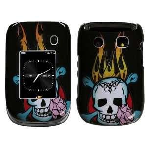 BlackBerry Style 9670 Skull Fire Hard Case Snap on Cover