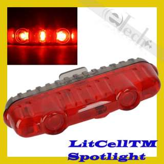 AKSLEN 3 Super Bright Led Bicycle Bike Rear Tail Light Lamp Red TL 60