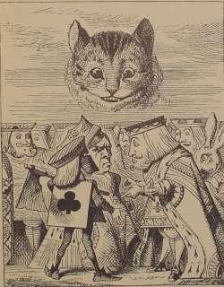 IN WONDERLAND Alices Adventures LEWIS CARROLL Antique Art Book RARE