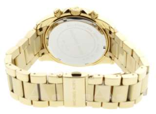 MICHAEL KORS MK5166 WOMENS GOLD STAINLESS STEEL CHRONOGRAPH WATCH