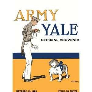 Yale Bulldogs vs. Army Black Knights 22 x 30 Canvas Historic Football
