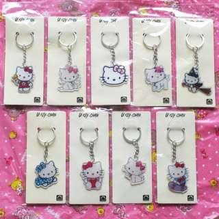 Hellokitty & Charmmy Kitty Acrylic Key Chain Key Ring Bag Charm Girls
