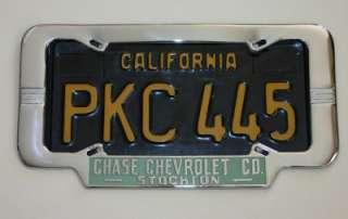 Chase Chevrolet Dealer Stockton, California License Plate Frame 1940
