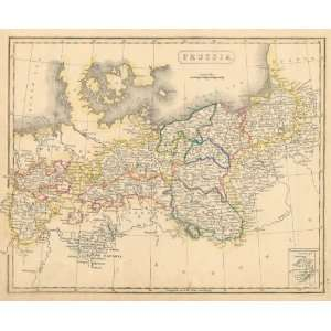 Arrowsmith 1836 Antique Map of Prussia