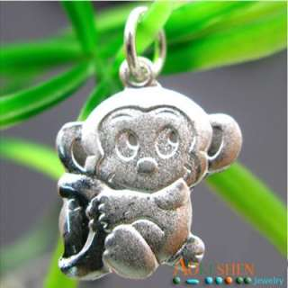 925 Sterling silver monkey Charms Necklace Pendant SMG97