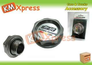 Genuine JDM MUGEN Oil Filler Cap Honda Civic Accord Gunmetal Silver