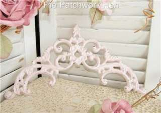 Shabby Pink Cottage Paris Chic Distressed Ornate Arched Cast Iron