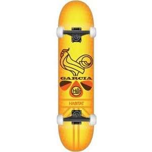 Rooster Blues Complete Skateboard   8.12 w/Black Trucks: Sports