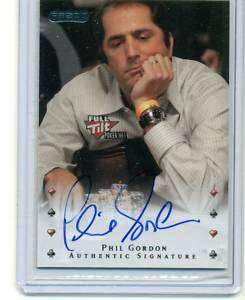 2010 RAZOR POKER PHIL GORDON AUTHENTIC SIGNATURE AUTO