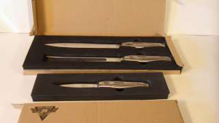NORTH AMERICAN FISHING CLUB CARVING SET & PARING KNIFE BY STONE RIVER